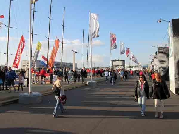 crowded pier in Gothenburg